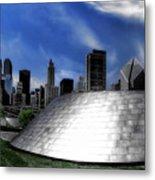 Chicago Millennium Park Bp Bridge Pa 01 Metal Print