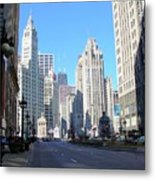 Chicago Miracle Mile Metal Print