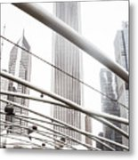 Chicago Monotone II Metal Print