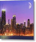 Chicago Oak Street Beach Metal Print