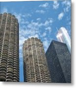 Chicago On A Bright Blue Day Metal Print