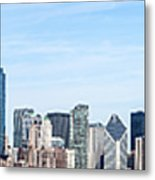 Chicago Panoramic Skyline High Resolution Picture Metal Print