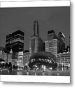 Chicago Park In Lights Metal Print