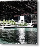Chicago Parked On The River In June 03 Pa 01 Metal Print