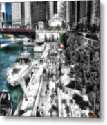 Chicago Parked On The River Walk 03 Sc Metal Print