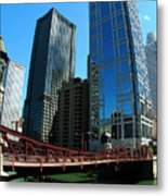 Chicago River - Chicago Boat Tour Metal Print