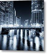 Chicago River At State Street Bridge Metal Print by Paul Velgos