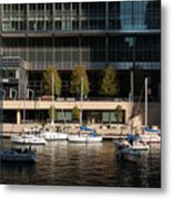 Chicago River Boats Metal Print