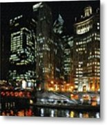 Chicago River Crossing Metal Print