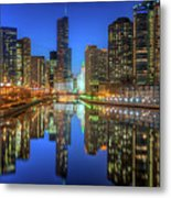 Chicago River East Metal Print