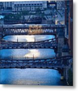 Chicago River First Light Metal Print