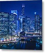 Chicago River Panorama Metal Print