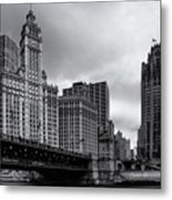 Chicago River Scene Metal Print