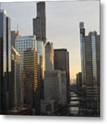 Chicago River View Metal Print