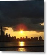 Chicago Silhouette Metal Print