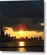 Chicago Silhouette Metal Print