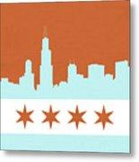 Chicago Skyline 540 3 Metal Print