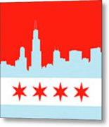 Chicago Skyline 541 1 Metal Print