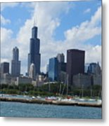 Chicago Skyline 7 Metal Print