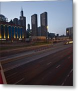 Chicago Skyline And Expressway Metal Print