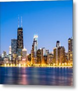 Chicago Skyline At Twilight Metal Print