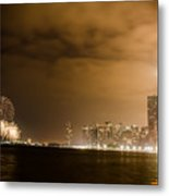 Chicago Skyline Fireworks Finale Metal Print by Anthony Doudt