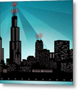 Chicago Skyline Metal Print by Sandra Hoefer