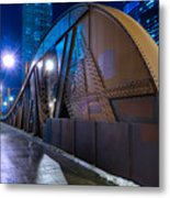 Chicago Steel Bridge Metal Print