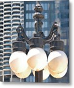 Chicago Street Lamps Metal Print