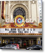 Chicago Theater Marquee Jethro Tull Signage Metal Print