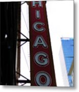 Chicago Theater Sign Metal Print