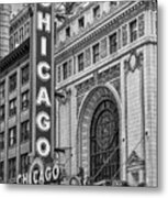 Chicago Theatre Bw Metal Print