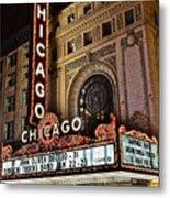 Chicago Theatre Metal Print