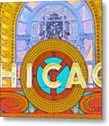 Chicago Theatre Metal Print