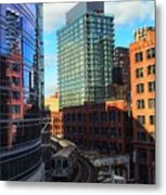 Chicago Train Metal Print