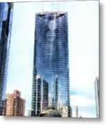 Chicago Under Construction On The River 02 Metal Print