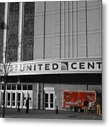 Chicago United Center Signage Sc Metal Print