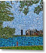 Chicago - View From Lakefront Trail Metal Print