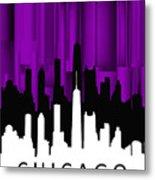 Chicago Violet Vertical  Metal Print