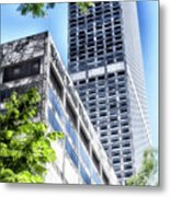 Chicago Water Tower Place Facade And Signage Metal Print