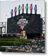Chicago White Sox Home Coming Weekend Scoreboard Metal Print