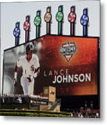Chicago White Sox Lance Johnson Scoreboard Metal Print