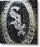 Chicago White Sox Ring Mosaic Metal Print by Paul Van Scott