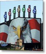 Chicago White Sox Usa Eagle Scoreboard Metal Print