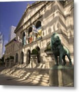 Chicago's Art Institute In Reflected Light. Metal Print