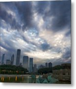 Chicago's Buckingham Fountain When It's Turned Off Metal Print