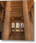 Chicagos Union Station Entry Metal Print