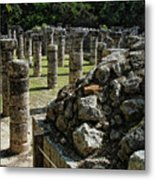 Chichen Itza - Mexico - Ancient Colums Metal Print