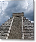 Chichen-itza Pyrmid In Mexico Metal Print