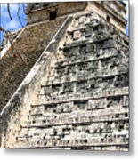 Chichen Itza Up Close Metal Print